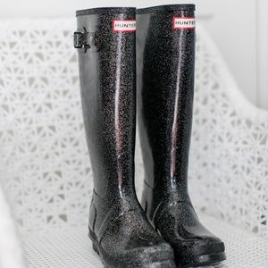Brand New Tall Hunter Boots 6 Black Starcloud
